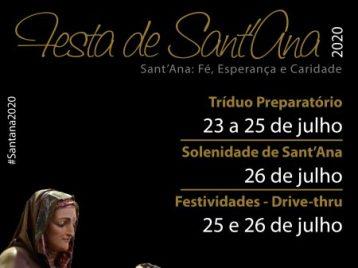 #Santana2020: Acompanhe a programação religiosa e recreativa da festa da padroeira da Arquidiocese
