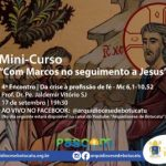 """Em setembro: Mini-curso """"Com Marcos no seguimento a Jesus"""""""