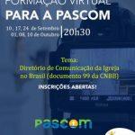 Mini-Curso promovido pela PasCom começa na próxima quinta (10); Se inscreva!