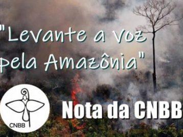 Nota da CNBB sobre as queimadas em território nacional