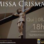 """Missa dos """"Santos Óleos"""" será celebrada hoje (08)"""