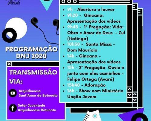 DNJ- Dia Nacional da Juventude 2020 será de forma Online 🥰🤩🎉