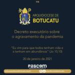 Arquidiocese publica novo Decreto sobre o agravamento da pandemia