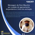 Mensagem de Dom Maurício por ocasião do agravamento da pandemia