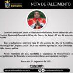 Nota de Falecimento: Pe. Sebastião dos Santos