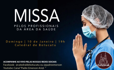 Catedral celebrará Missa em intenção pelos profissionais da saúde no próximo domingo (10)