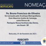 Cúria Arquidiocesana publica nomeações