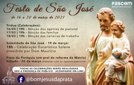 Paróquia de Pratânia realiza Festa em honra a São José em formato virtual e drive-thru
