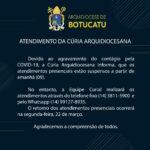 CÚRIA ARQUIDIOCESANA | Atendimentos presenciais estão suspensos