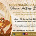 Seminarista Marco Raphael será ordenado diácono