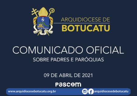 Comunicado Oficial sobre Padres e Paróquias