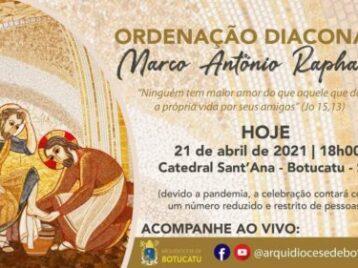 Ordenação Diaconal de Marco Raphael acontece hoje, 21